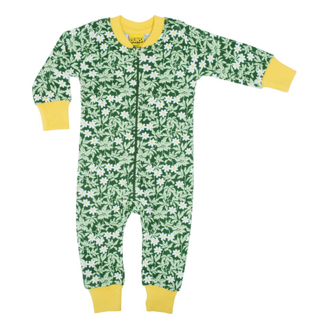 Green Wood Anemone Zip Suit