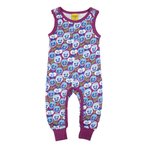 Pansy Hyacinth Violet Dungaree