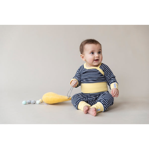 Navy Striped Baby Bottoms