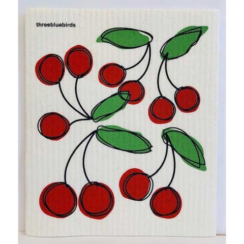 Swedish Cherries Dishcloth