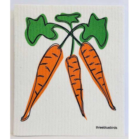 Carrots Swedish Dishcloth