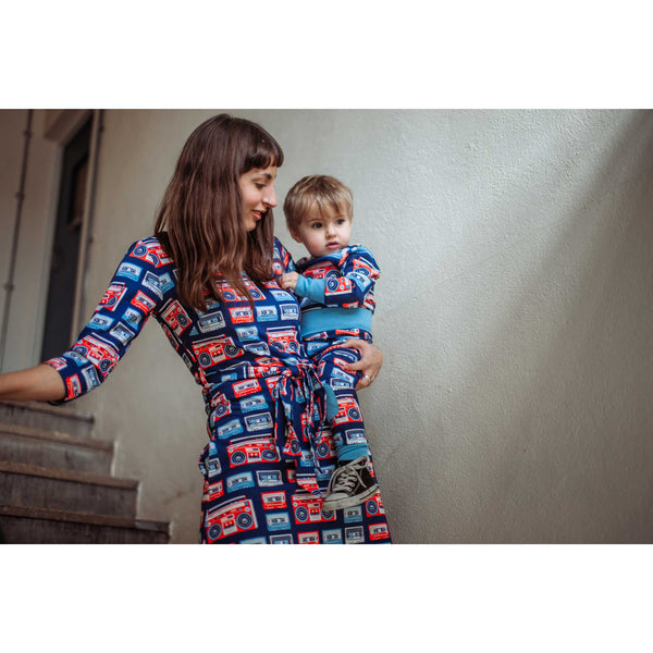 Boomblaster Navy & Red Onesie