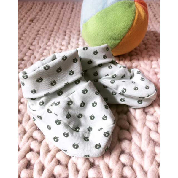 Mint Green Baby Booties