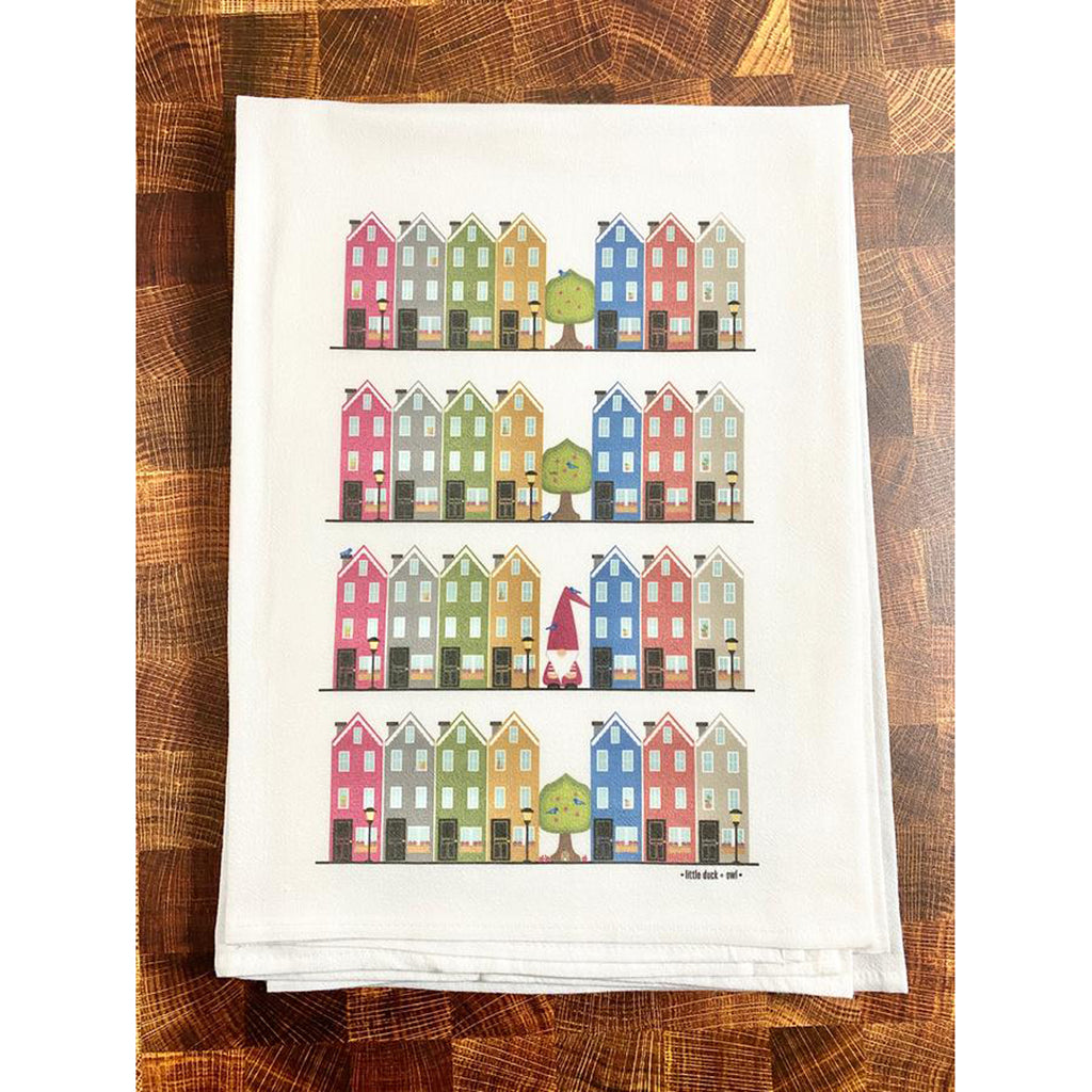 Row Houses + Gnome Tea Towel