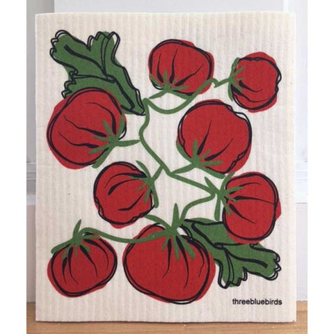 Tomatoes Swedish Dishcloth