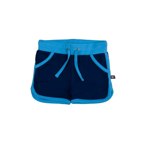 Blue Retro Running Shorts