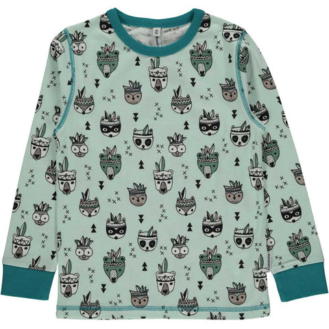 Animal Mix Long Sleeve Shirt