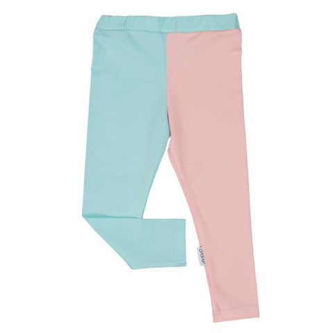 Light Blue and Peach Leggings