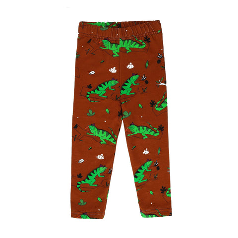 Organic Brown Iguana Pants