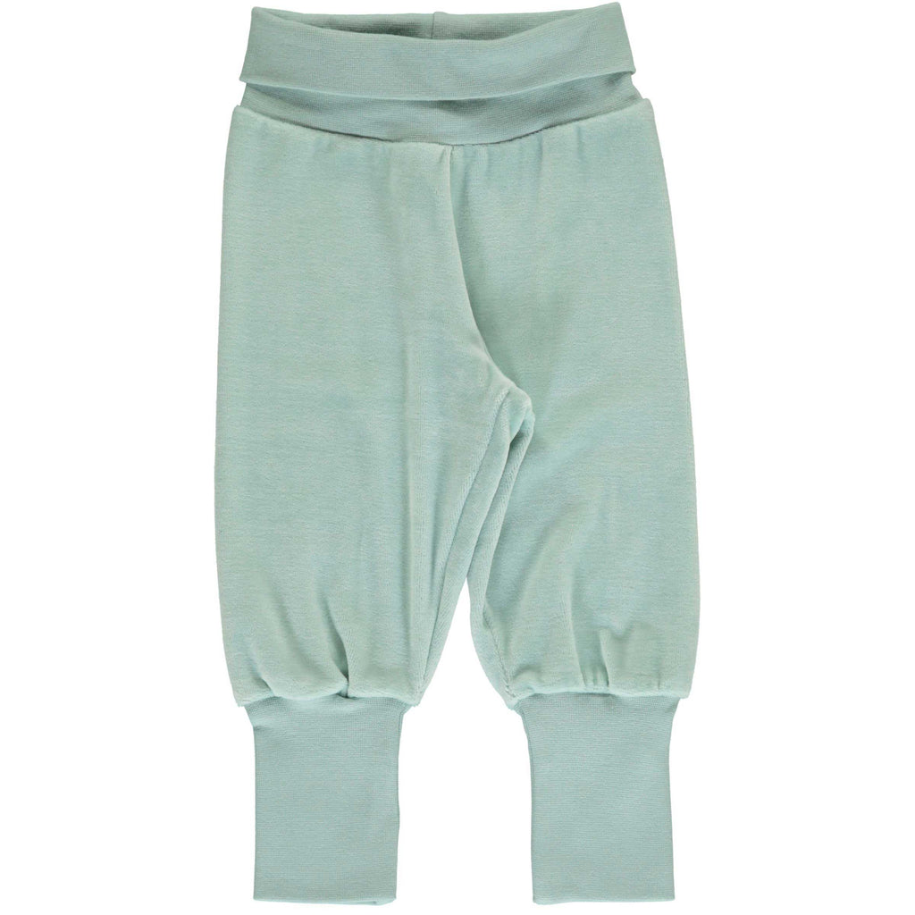 Icy Blue Velour Rib Baby Bottoms