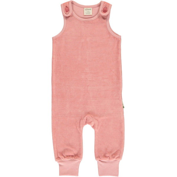 Dusty Rose Velour Romper