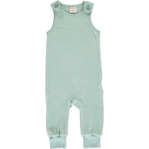 Icy Blue Velour Romper