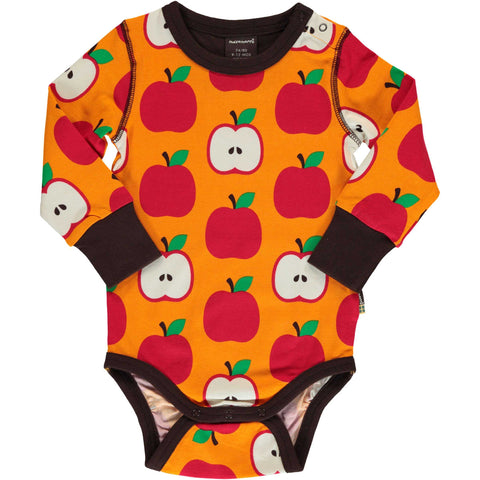 Classic Apple Long Sleeve Onesie