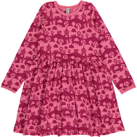 Pink Landscape Twirly Dress