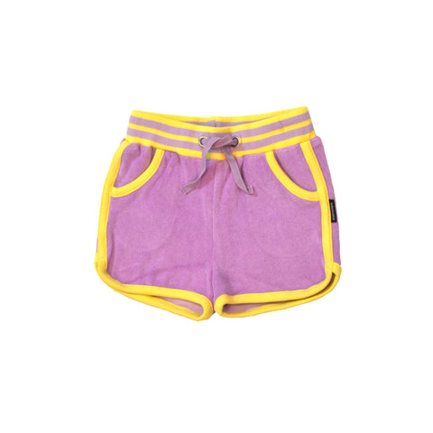 Terry Purple Running Shorts