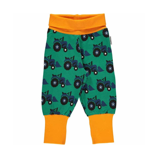 Green Tractor Rib Baby Bottoms