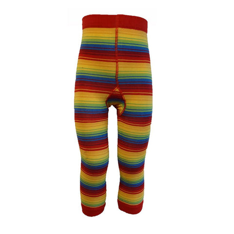Rainbow Stripe Footless Tights