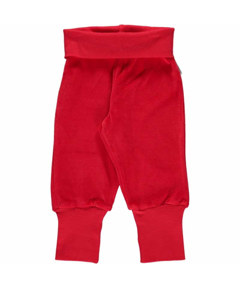 Red Velour Bottoms