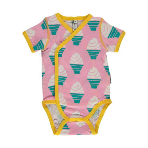Wrap Short Sleeve Ice Cream Onesie