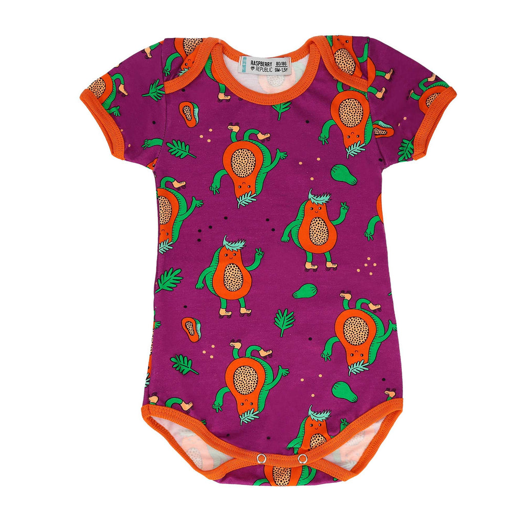 Papaya Short Sleeve Onesie