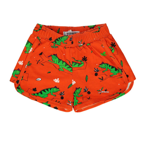 Fire Red Iguana Shorts