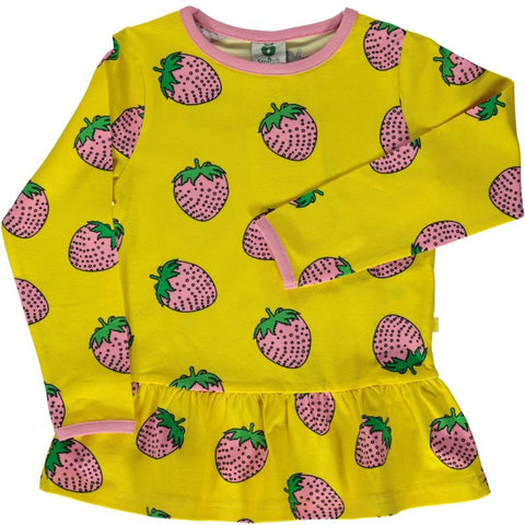 Sunshine Yellow Strawberry Shirt