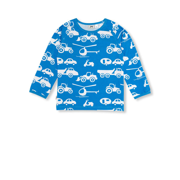 Blue Vehicle Long Sleeve Shirt