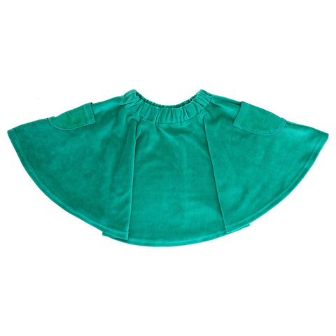 Velour Teal Skirt