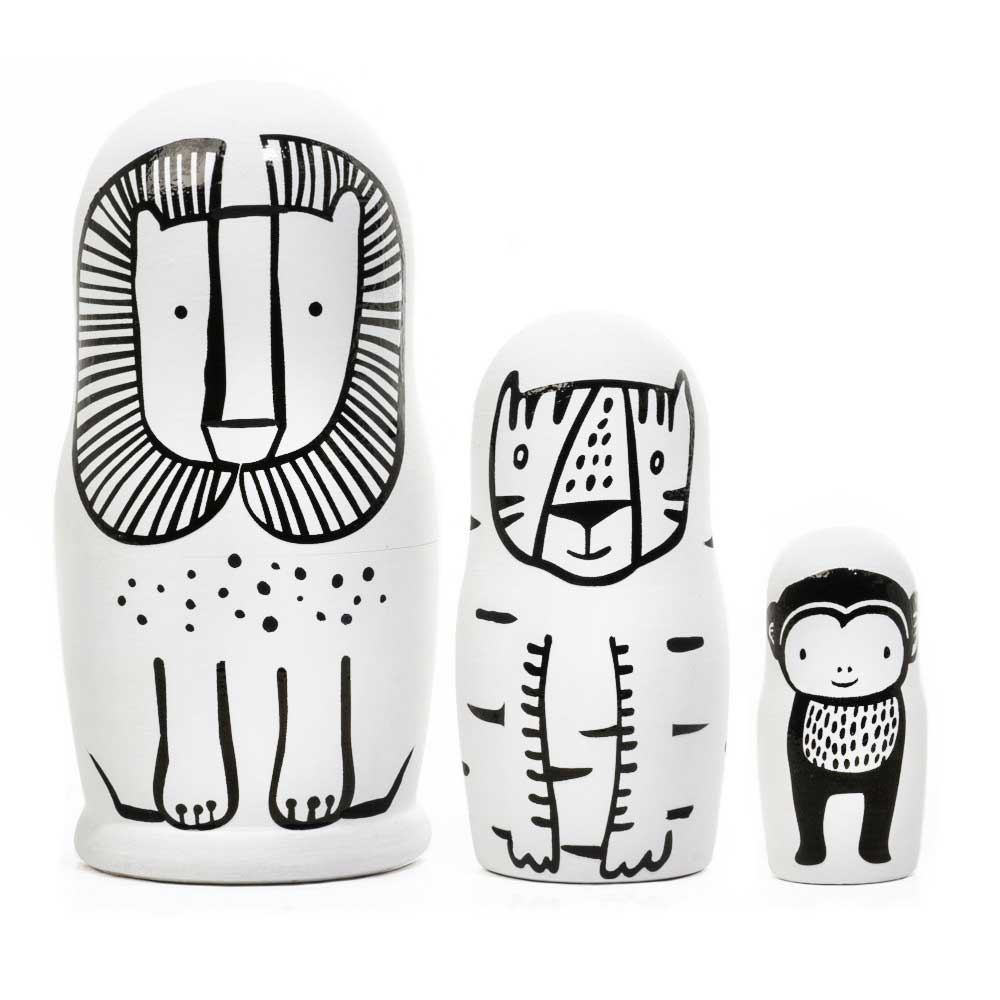 Wild Animals Nesting Dolls