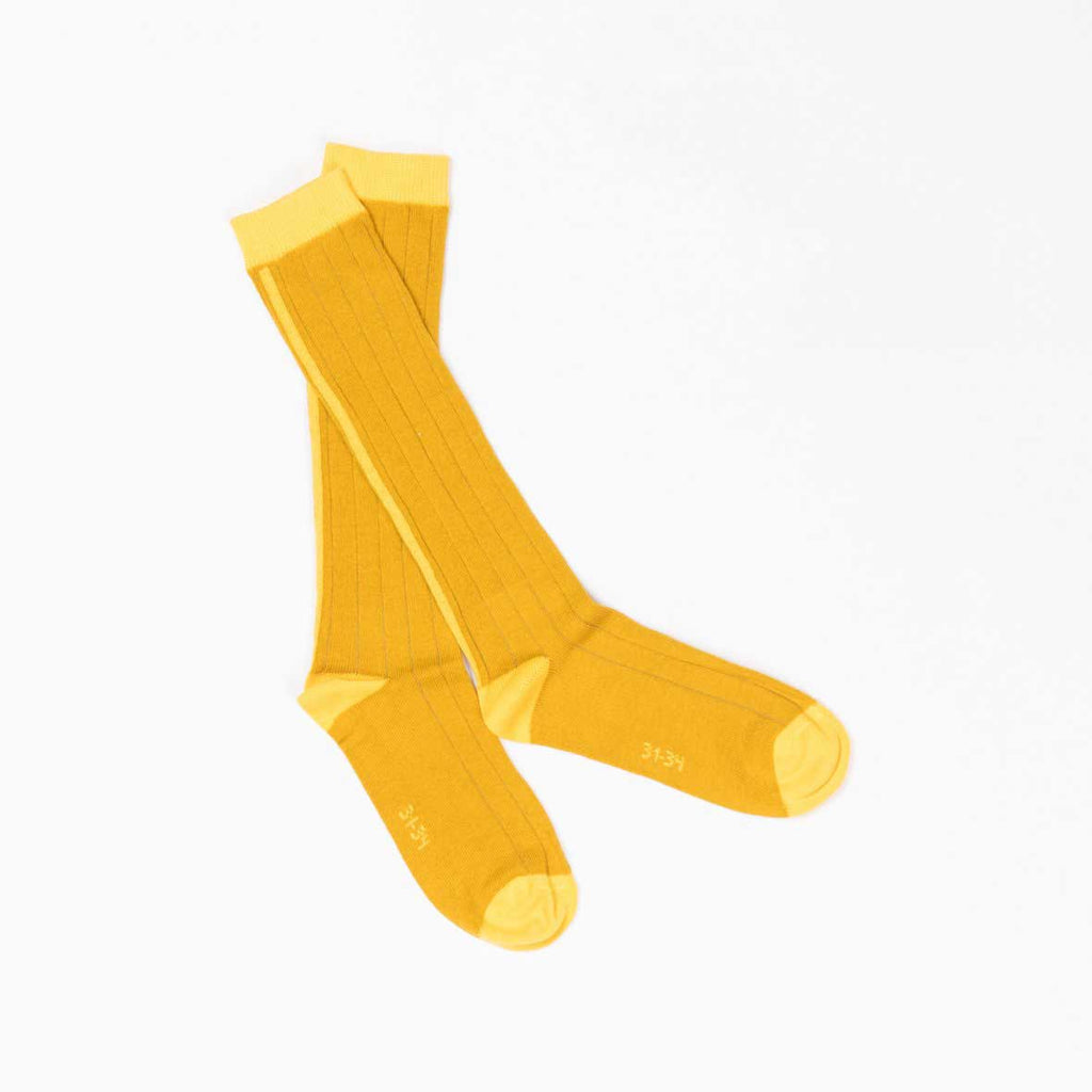 Bea Gold Knee Socks