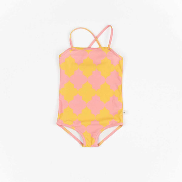 Grazia Pink & Yellow Swimsuit