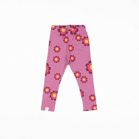 Magenta Flower Power Leggings