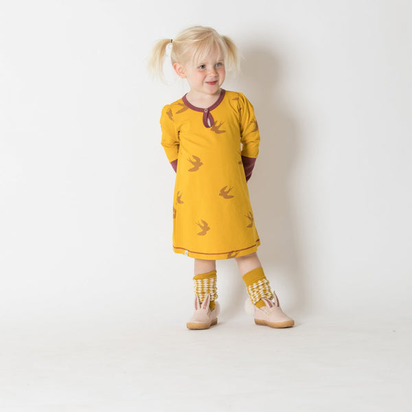 Ida Gold Bird Dress