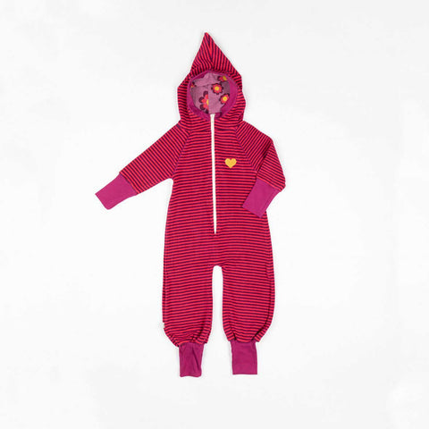 Raspberry Magic Stripes Jumpsuit