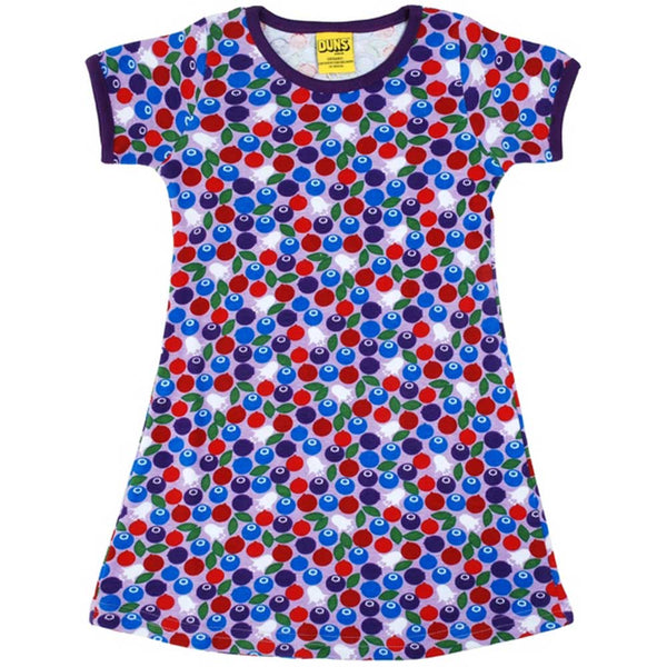 Short Sleeve Blueberry Dress