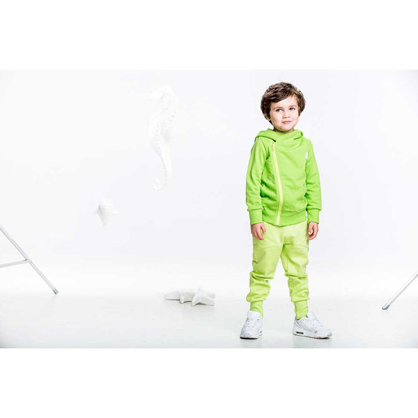 Lime Green College Baggy Pants