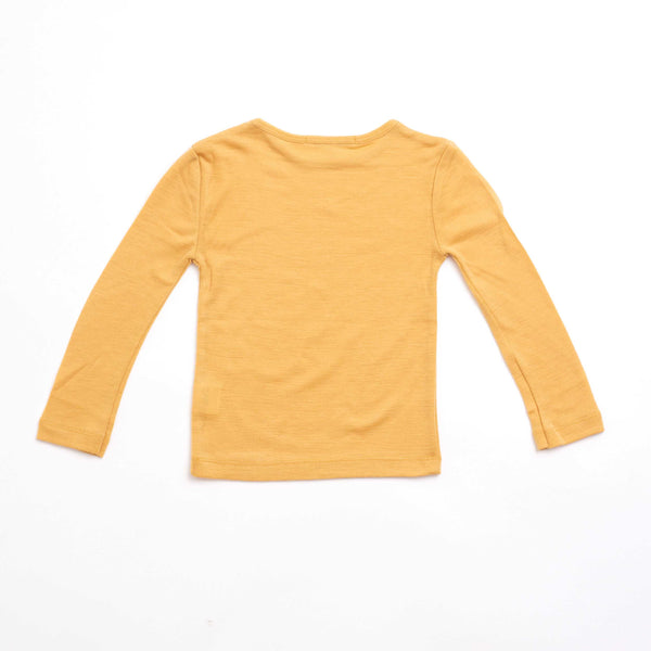 Long Sleeve Ochre Merino Wool Top