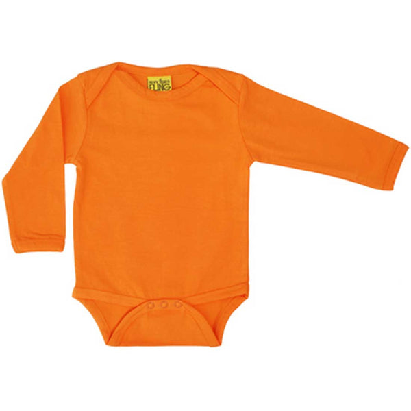 Pumpking Orange Long Sleeve Onesie