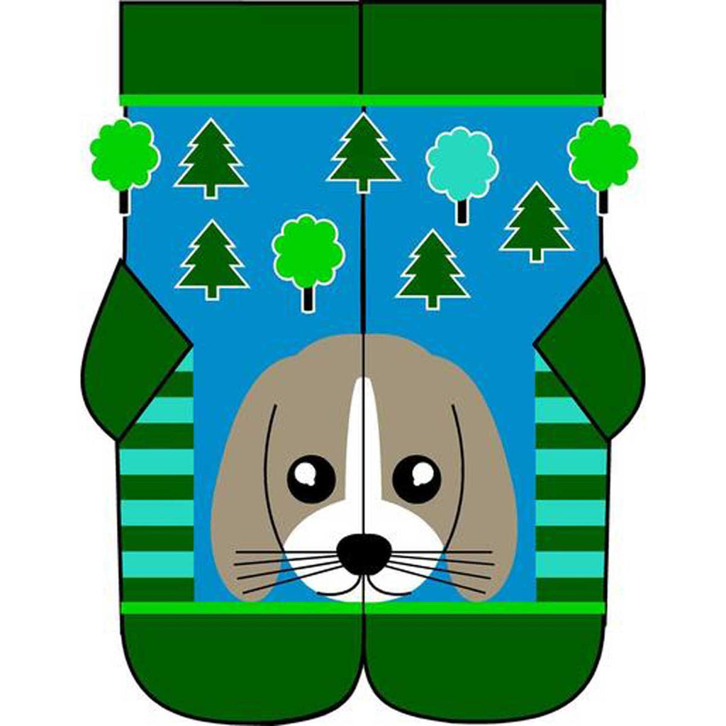 Blue Green Dog Socks