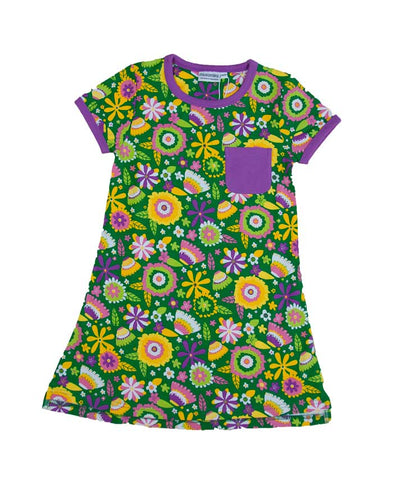 T-Shirt Dress Flower Garden