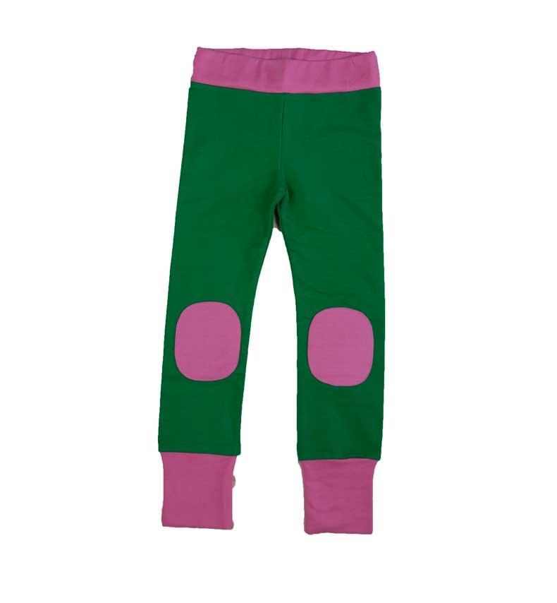 Green Pants with Patches