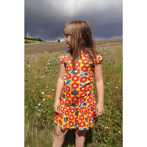 Retro Flower & Butterfly Dress