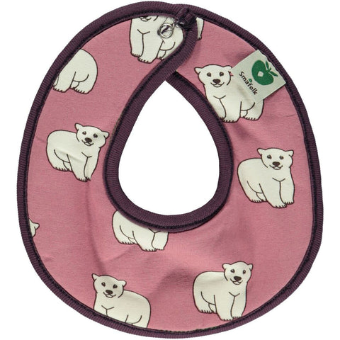 Panda Apple Reversible Bib Rose