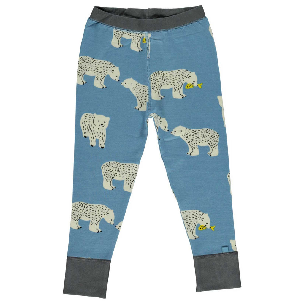 Blue Polar Bear Wool & Cotton Pants