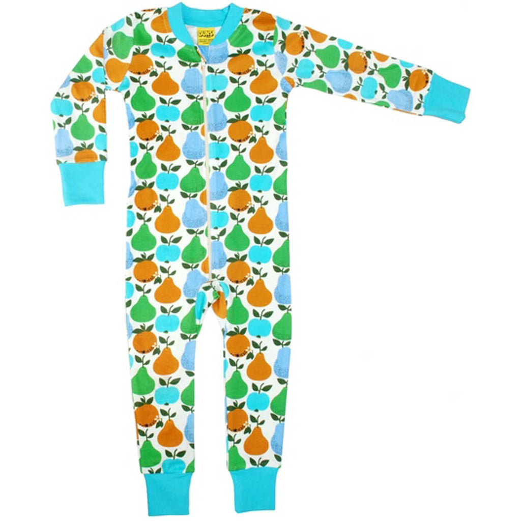 Turquoise Fruits Zip Suit