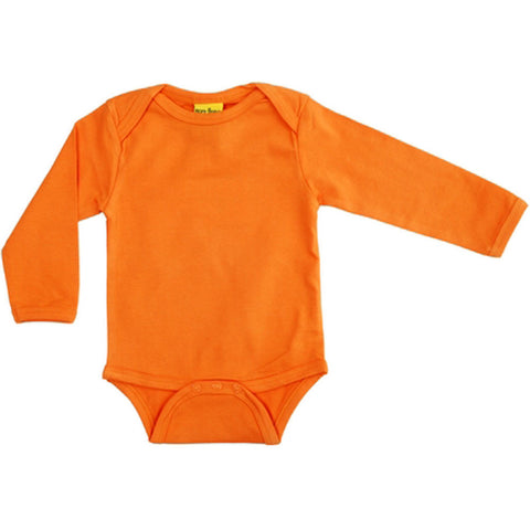 Clementine Orange Long Sleeve Onesie