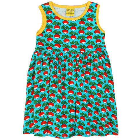 Turquoise Radish Twirl Dress