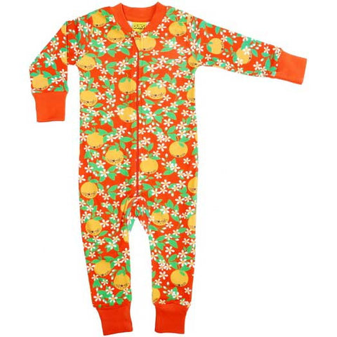 Red Oranges Zip Suit