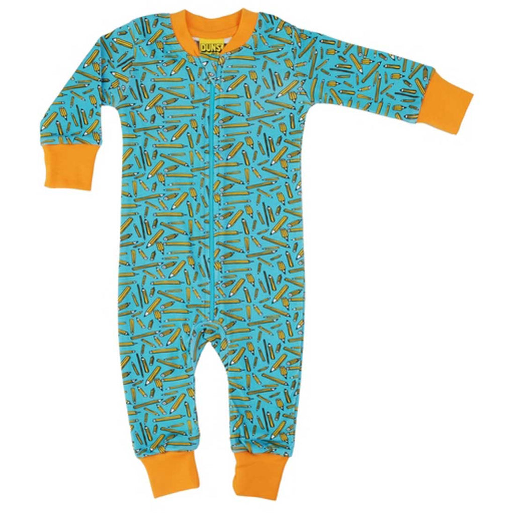 Pencils Turquoise Zip Suit