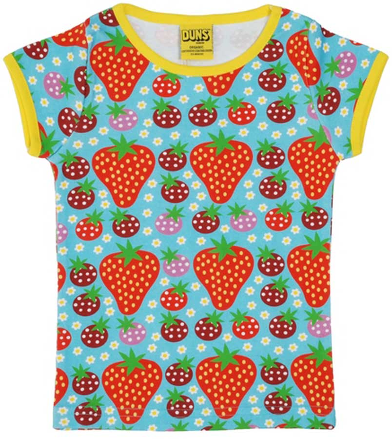 Turquoise Strawberry Field T-Shirt